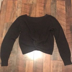 Shein - Twist Front Cropped Sweater - Never Worn